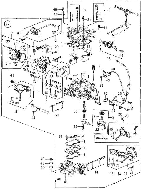Honda online store : 1983 civic carburetor (4) parts