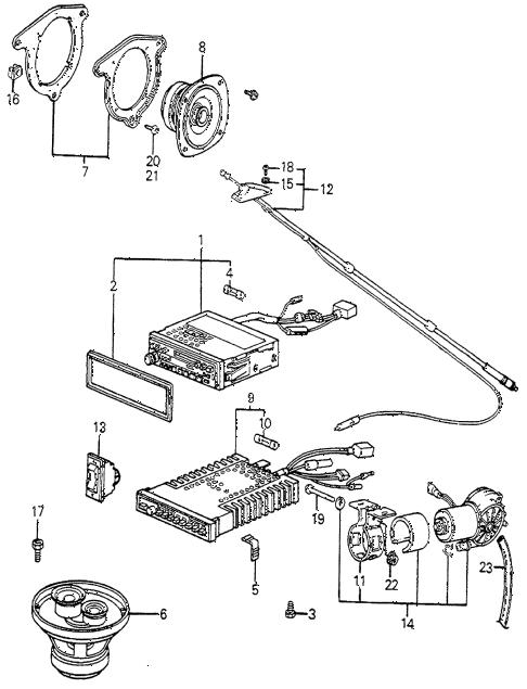 Honda online store : 1983 accord radio parts