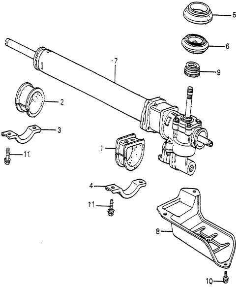 Honda online store : 1985 accord p.s. gear box parts