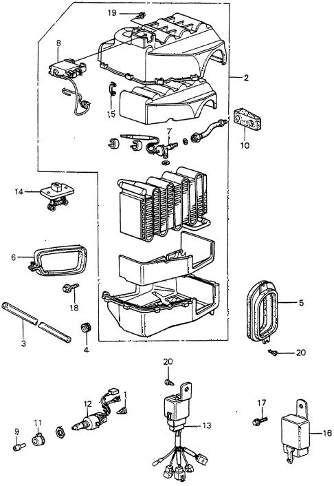 Honda online store : 1985 accord a/c unit (denso) parts