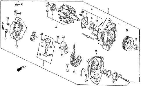 Honda online store : 1986 prelude alternator (si) parts