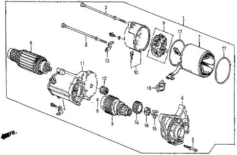 Honda online store : 1987 prelude starter motor (denso) parts