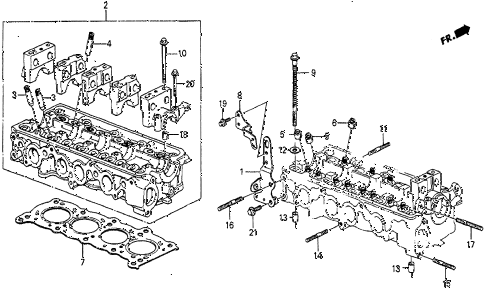 Honda online store : 1987 prelude cylinder head parts