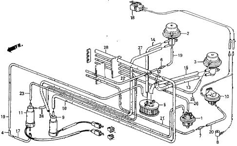 Honda online store : 1984 crx no. 2 tubing ('84) (1.5 dx