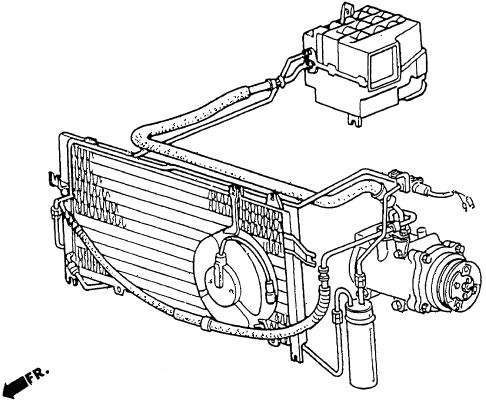 Honda online store : 1986 crx a/c air conditioner parts