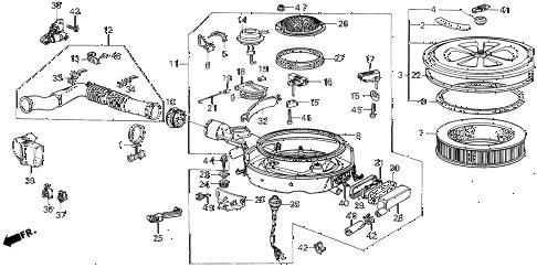 Honda online store : 1985 civic air cleaner parts