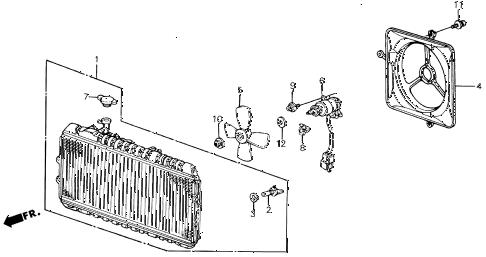 Honda online store : 1987 civic radiator (toyo) parts