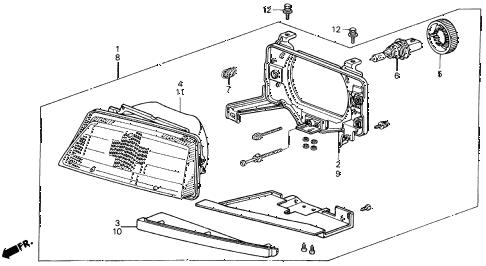 Honda online store : 1987 civic headlight ('86-'87) parts