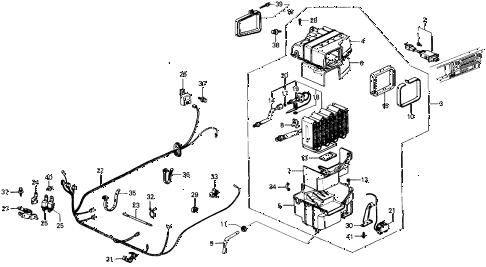 Honda online store : 1985 civic a/c cooling unit (keihin