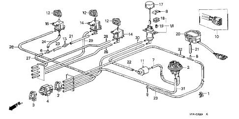 Honda online store : 1988 accord air cleaner vacuum tubing