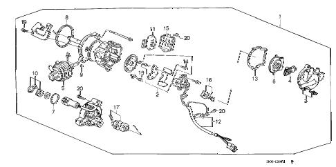 Honda online store : 1989 accord distributor (pgm-fi) (tec