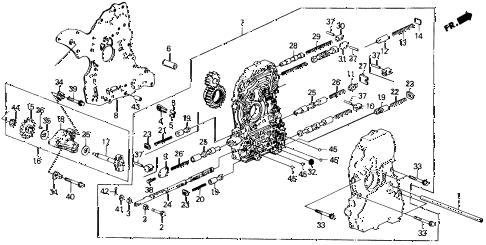 Honda online store : 1991 prelude at main valve body parts