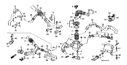 Honda online store : 1988 prelude air cleaner (si) ('88