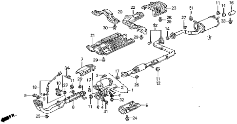 1989 Honda Prelude Parts Diagram. Honda. Auto Parts