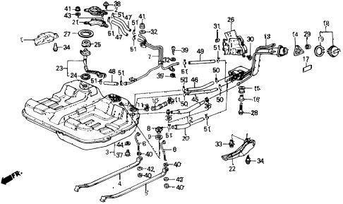 Honda online store : 1988 prelude fuel tank parts