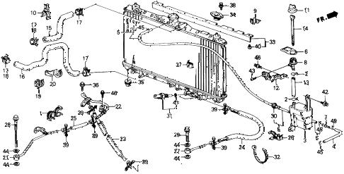 Honda online store : 1990 prelude radiator hose parts