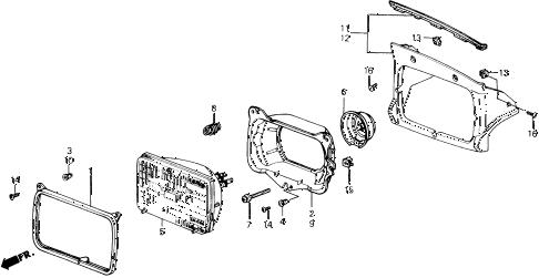 Honda online store : 1988 prelude headlight parts