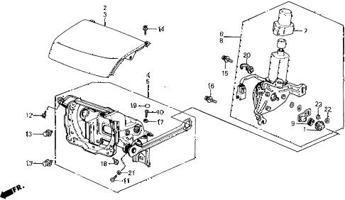 Honda online store : 1989 prelude retractable headlight parts