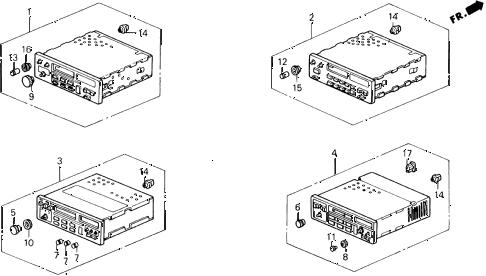 Honda online store : 1988 prelude radio parts