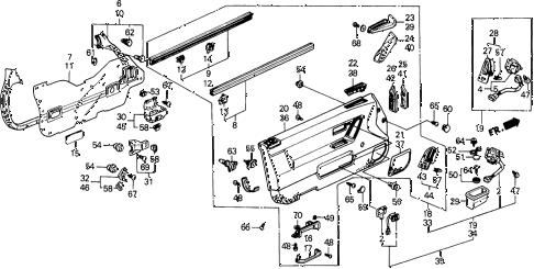 Honda online store : 1988 prelude front door lining (2.0 s