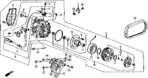 Honda online store : 1991 prelude a/c compressor (2.05 si