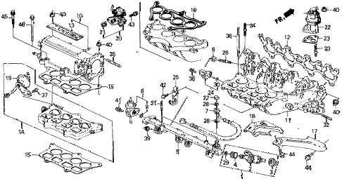 Honda online store : 1988 prelude intake manifold (si) parts