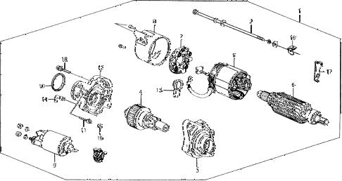 Honda online store : 1988 prelude starter motor (mitsuba
