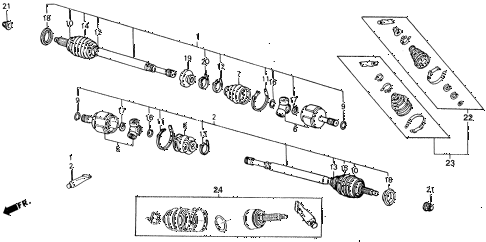 Honda online store : 1989 accord driveshaft parts