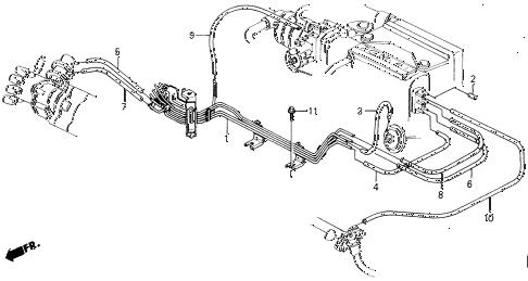 Honda online store : 1989 accord fuel vacuum tubing (pgm