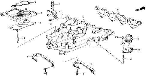 Honda online store : 1989 accord intake manifold parts