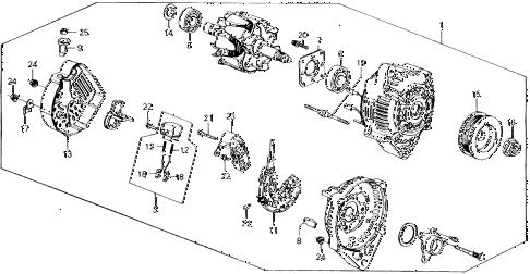 Honda online store : 1989 accord alternator (denso) parts