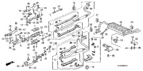 Honda online store : 1990 crx exhaust system parts