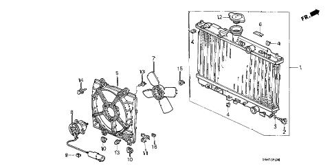 Honda online store : 1990 crx radiator (denso) parts