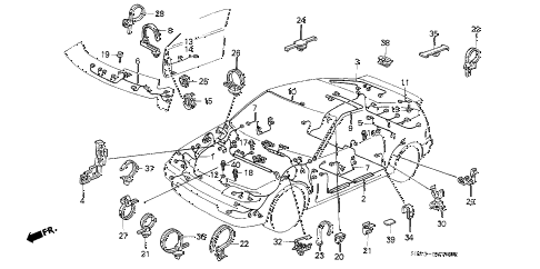 Honda online store : 1991 crx wire harness parts