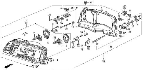 Honda online store : 1990 crx headlight parts