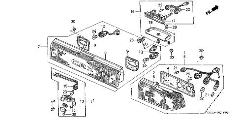 Honda online store : 1991 crx taillight parts