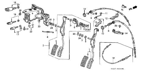 Honda online store : 1991 crx accelerator pedal parts