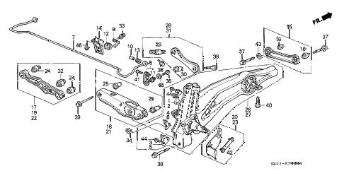 Honda online store : 1990 crx rear lower arm parts