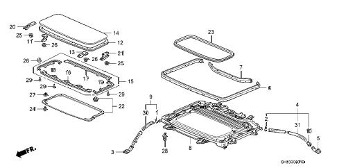 Honda online store : 1988 crx sliding roof (1) parts