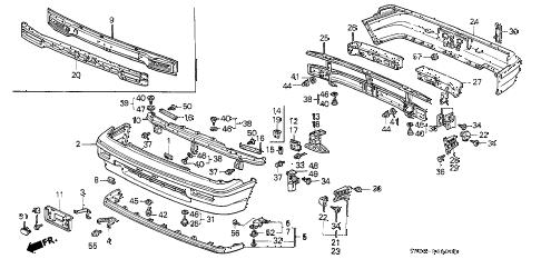 Honda online store : 1991 crx bumper parts