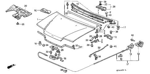 Honda online store : 1990 crx hood parts