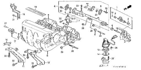 Honda online store : 1991 crx intake manifold (2) parts