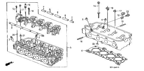 Honda online store : 1990 crx cylinder head parts