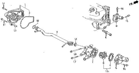 Honda online store : 1990 crx water pump parts