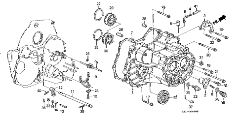 Honda online store : 1990 civic at transmission housing parts