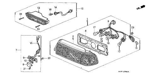 Honda online store : 1991 civic taillight parts