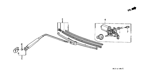 Honda online store : 1991 civic rear wiper parts