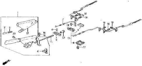 Honda online store : 1990 civic parking brake parts