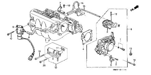 Honda online store : 1991 civic throttle body (2) parts