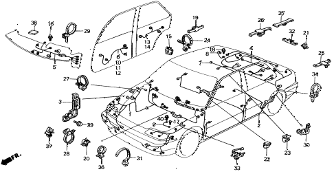 Honda online store : 1991 civic wire harness parts
